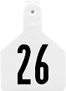 Z1 No-Snag Numbered Calf Ear Tags