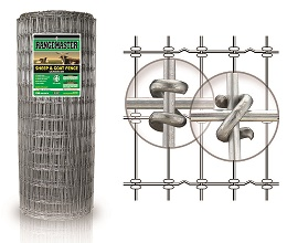 NEW!  4x4 Sheep & Goat Wire 1348-4 12.5ga C3 (2-1/2 times the Zinc coating means 2-1/2 times longer life compared to C1 coating) 1 pc Vertical - 330ft