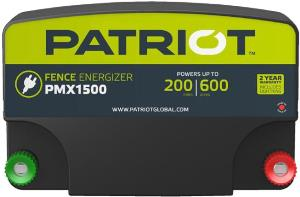 Patriot PMX1500 - MOST POWERFUL ENERGIZER IN THE PATRIOT LINE! - Low-impedance Energizer; 2-Year Full Replacement Warranty!