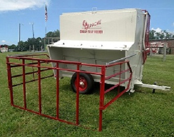 Apache 8ft 150 Bushel Double-sided Creep/Self Feeder on Wheels with Panels plus Spring Lift Assist