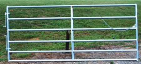 Pasture's Pride Galvanized HT Steel Tube Gate - 8ft with 1 vertical brace - Hardware included
