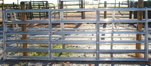 Pasture's Pride Galvanized HT Steel Tube Gate - 16ft with 3 vertical braces - hardware included