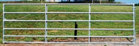 Pasture's Pride Galvanized HT Steel Tube Gate - 14ft with 2 vertical braces - Hardware included
