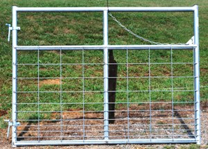 Pasture's Pride Galvanized HT Steel Wire Mesh Gate - 6ft with1 vertical brace - hardware included