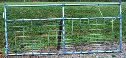 Pasture's Pride Galvanized HT Steel Wire Mesh Gate - 10ft wiht 1 vertical brace - hardware included