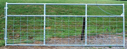 Pasture's Pride Galvanized HT Steel Wire Mesh Gate - 12ft with 2 vertical braces - hardware included