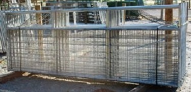 Pasture's Pride Galvanized HT Steel Wire Mesh Gate - 14ft with 2 vertical braces - hardware included