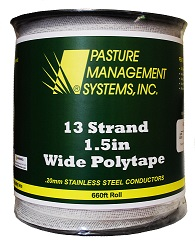 13-MEGA STRAND Stainless Steel Wide Polytape