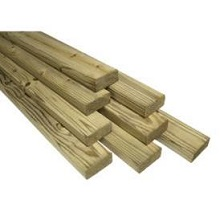 1x6x16 Southern Yellow Treated Pine Lumber - Rough-cut